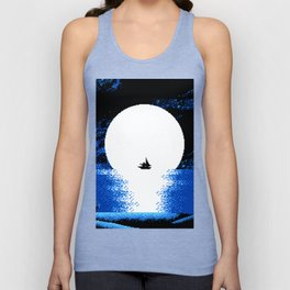 Gazing  the  Moon  at  the  Celestial  Seashore Unisex Tank Top