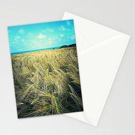 wheat fields Stationery Cards