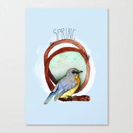 Spring birdy / Nr. 2 Canvas Print