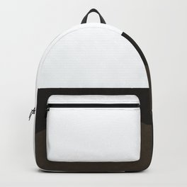 Black and white abstract hill Backpack