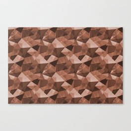 Abstract Polygon Sherwin Williams' Color of the Year for 2019, Canyon Clay Cubism Triangle 4 Canvas Print