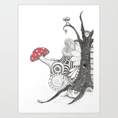 Sleepingland Art Print