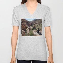Sitting On A Cliff Unisex V-Neck