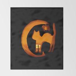 Meow - Halloween Kitten Throw Blanket