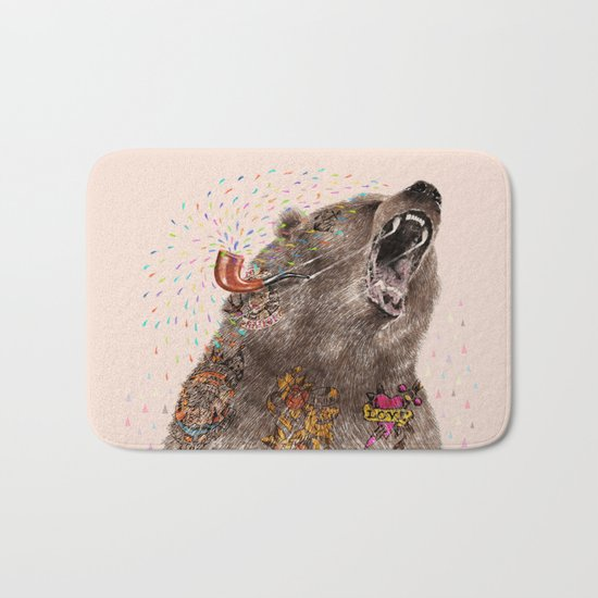 Angry Bear II Bath Mat