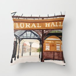 FLORAL HALL Throw Pillow