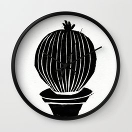 Round Little Cactus Wall Clock