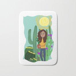 The cactus girl Bath Mat