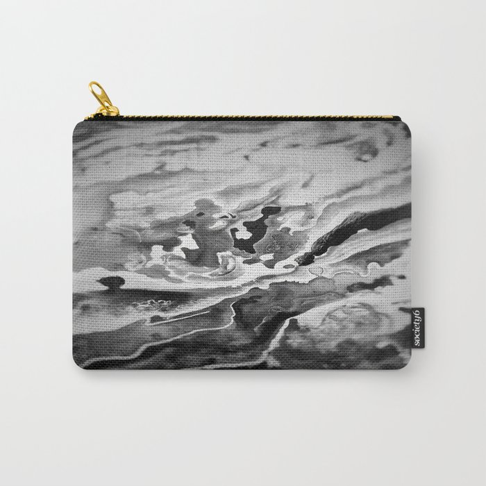 Deep Sea Black Focus Marble Carry-All Pouch