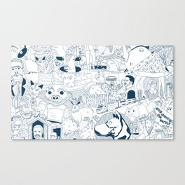 The Infinite Drawing Canvas Print