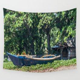 Blue Filipino Kayak Wall Tapestry