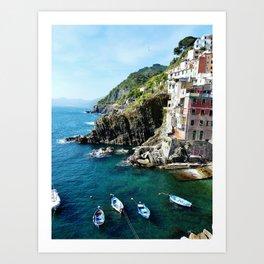 Riomaggiore Harbor Art Print
