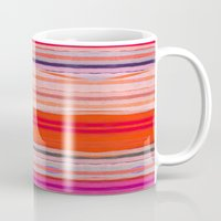stripes Mugs featuring stripes by spinL