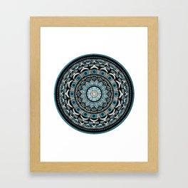 Vishuddha throat chakra mandala. Framed Art Print