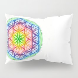 Flower of Life & the Seven Colours - The Rainbow Tribe Collection Pillow Sham