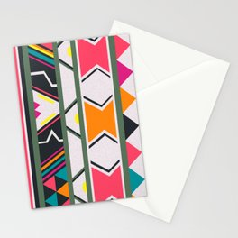 Ndebele pink and green Stationery Cards