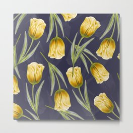 Tulipa pattern 4.2 Metal Print