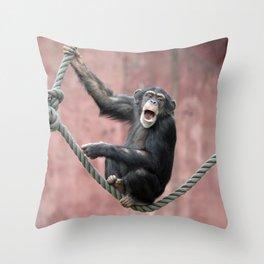 Chimpanzee_001_by_JAMFoto Throw Pillow