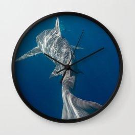 Peaceful Lemon Shark Wall Clock