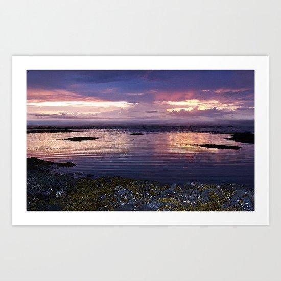 Sunset Split Art Print