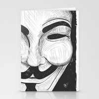 anonymous Stationery Cards featuring Anonymous by nicole carmagnini