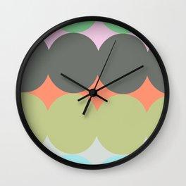 ALMA MULTICOLOR - Mid Century Modern Pattern Graphic Design Wall Clock