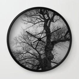 Nature Photography Weeping Willow | Lungs of the Earth | Black and White Wall Clock