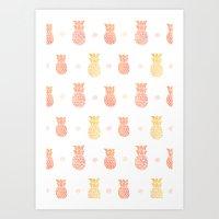 Fresh Summer Pineapple Art Print