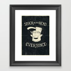 Stuck in my head Framed Art Print
