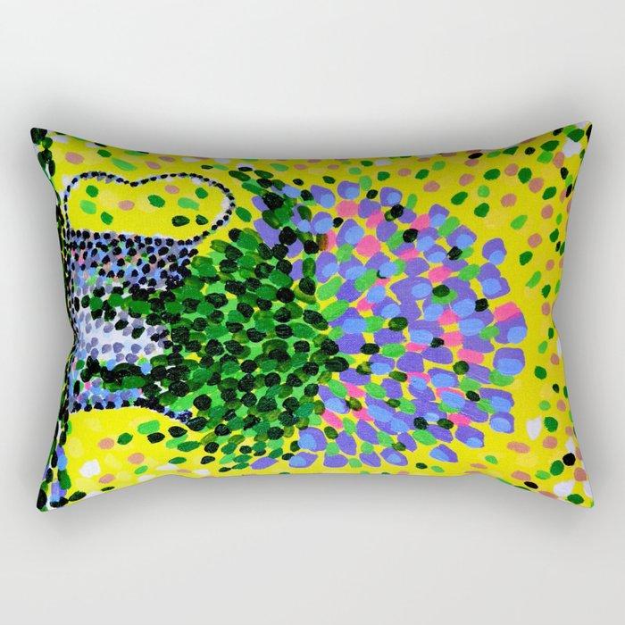 Explosive Flowers Rectangular Pillow