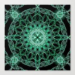 Luminous Knot Mandala Canvas Print