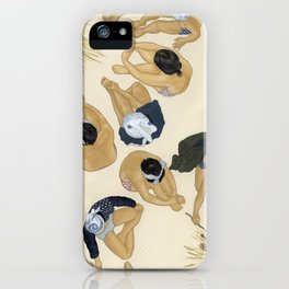 Finding Warmth Together iPhone Case