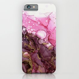 Cranberry Flamingo Abstract - Part 1 iPhone Case
