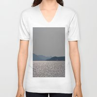 sailboat V-neck T-shirts featuring sailboat by Alyson Cornman Photography