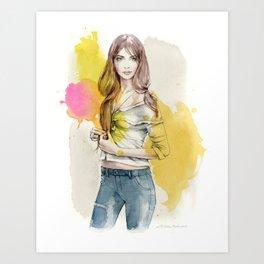 Brooke Art Print