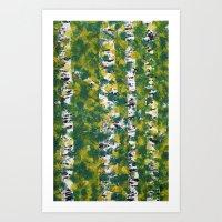 birch Art Prints featuring Birch by AhaC