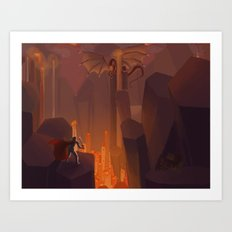 Into the Flames Art Print