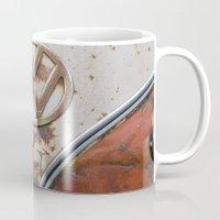 vw Mugs featuring Rusty VW by KitKatDesigns