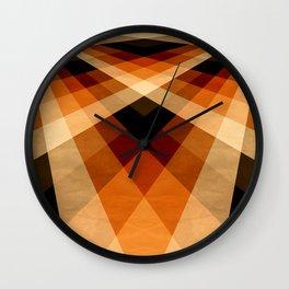 Autumn Groovy Checkerboard Wall Clock