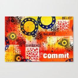 """Belief Confidence Attitude Commit"" Original design by PhillipaheART Canvas Print"