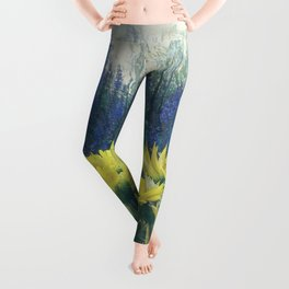Small Summer Garden Leggings