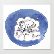 Licorne Canvas Print