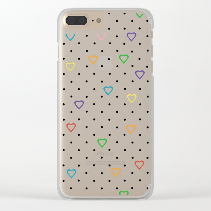 Candy Heart Spots Clear iPhone Case