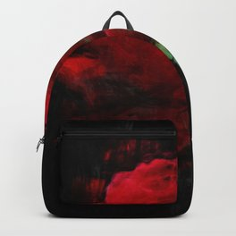 Red Rose Impressionist Painting Backpack