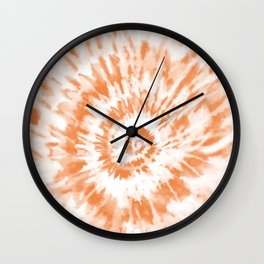 Light Orange Tie Dye Wall Clock
