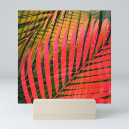 COLORFUL TROPICAL LEAVES no4B Mini Art Print