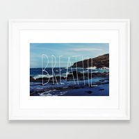 breathe Framed Art Prints featuring Breathe by Leah Flores