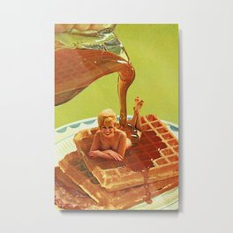 Pour some syrup on me - Breakfast Waffles Metal Print