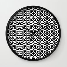 Black and White Tile 6/9/2013 Wall Clock
