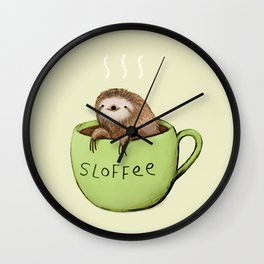 Sloffee Wall Clock